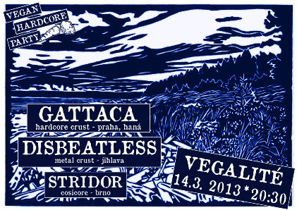 VEGAN HARDCORE PARTY: Gattaca + Disbeatless + Stridor