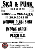 SKA and PUNK NIGHT: KOHOUT PLA�� SMRT + VYSOK� NAP�T� + PEACH U.S.