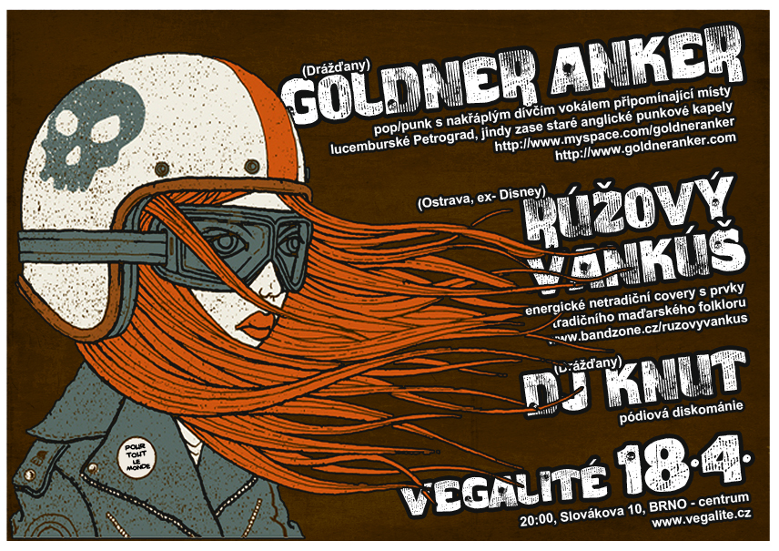 GOLDNER ANKER (Drany, pop/punk) + RUOV VANK (Ostrava, extrmn covery) + DJ Knut (Drany, discomaniak)