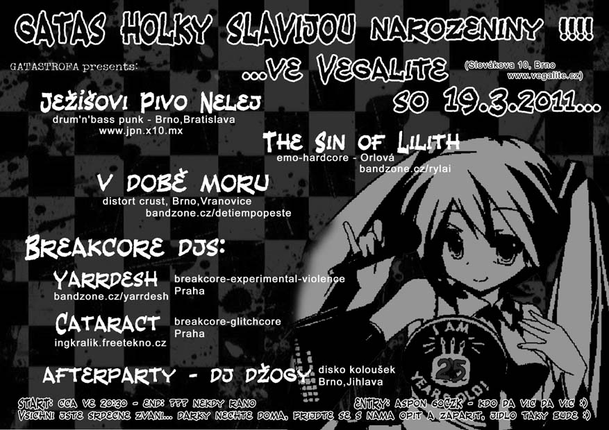 V dob Moru, The Sin of Lilith, Jeiovi Pivo Nelej - Yarrdesh, Cataract - DJ Dogy