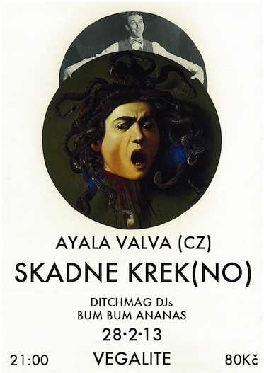 SKADNE KREK (Norsko) + AYALA VALVA (Brno) + DJs